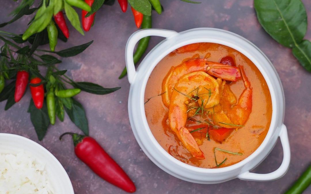 Creamy King Prawns Thai Panang Curry