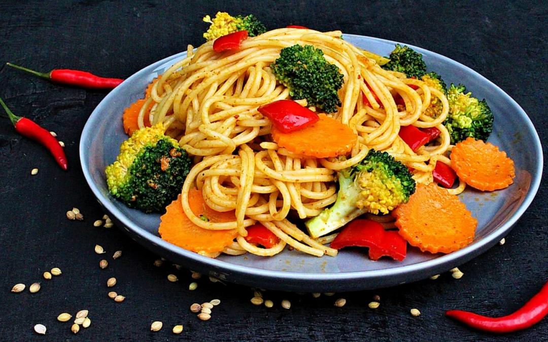 Panang Spaghetti with Vegetables