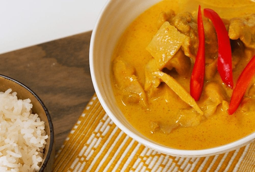 Chicken Thai Yellow Curry with Bamboo Shoots
